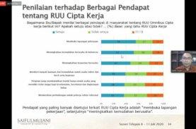 Survei SMRC, Mayoritas Pengangguran Ingin RUU Cipta Kerja Segera Disahkan