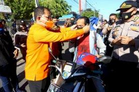 Danny-Fatma Bersama TNI-Polri Kampanye Masker
