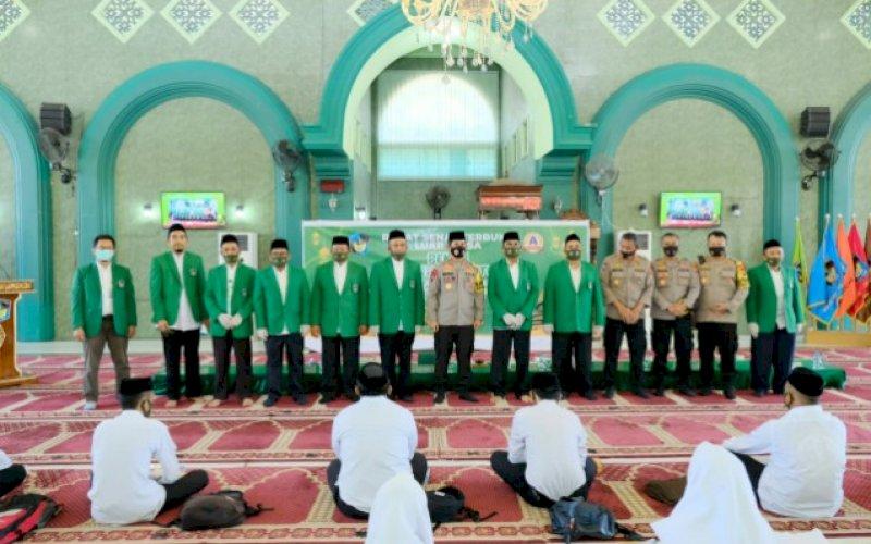 SILATURAHMI. Kapolda Sulsel, Irjen Pol Merdisyam, melakukan kunjungan silaturahmi ke UMI Makassar, Senin (14/09/2020). foto: istimewa
