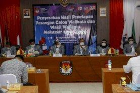 KPU Tetapkan Empat Pasang Kontestan Pilwalkot Makassar 2020