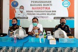 BNN Sulsel Amankan 1 Kg Sabu di Sidrap