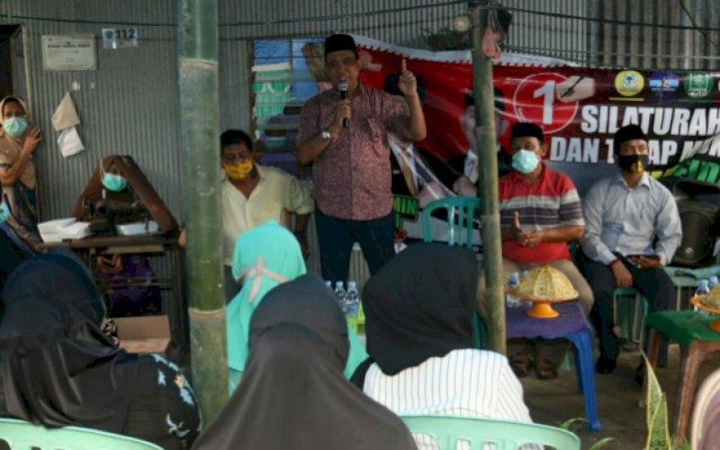 SILATURAHMI. Silaturahmi tatap muka calon Bupati Maros, Andi Tajerimin di Pakalu, Bantimurung, Rabu (21/10/2020).foto: istimewa