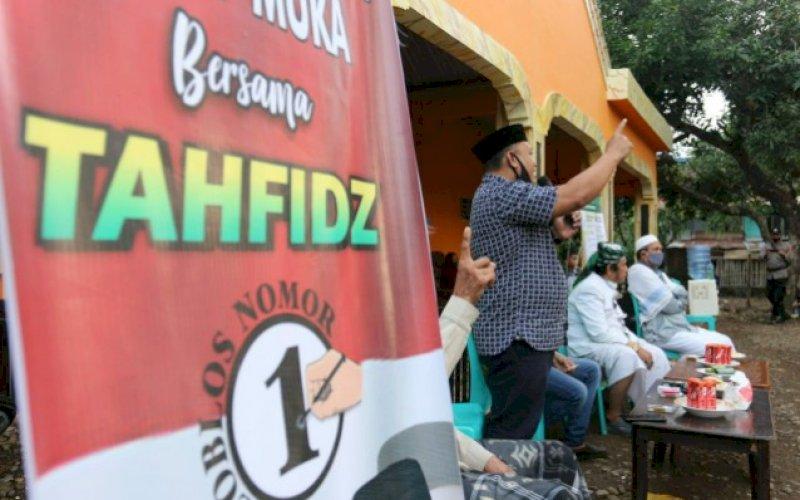 KAMPANYE. Kampanye tatap muka Tahfidz (Andi Tajerimin-Havid S Fasha) di Tanralili, Sabtu (24/10/2020). foto: istimewa