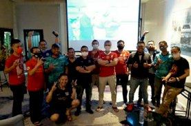 Nobar Perdana Siaran Sepak Bola di Aryaduta Berlangsung Meriah