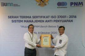 Sucofindo Serahkan Sertifikat SNI ISO 37001:2016 Kepada PNM