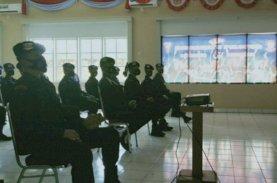 Batalyon C Pelopor Nobar Upacara HUT Ke-75 Korps Brimob Polri