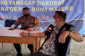 Bupati Bone Kunjungi Dapur Lapangan Brimob Sulsel untuk Korban Gempa Sulbar