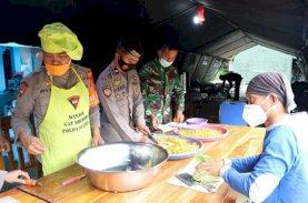 Brimob Polda Sulsel Sediakan Dapur Lapangan dan Water Treatment untuk Korban Gempa Sulbar