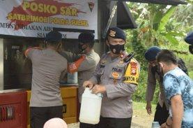 Brimob Polda Sulsel Sediakan Water Treatment untuk Pengungsi Korban Gempa Sulbar
