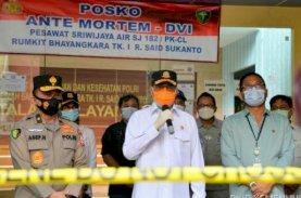 Menhub Tinjau Identifikasi Jenazah Korban Jatuhnya Sriwijaya Air