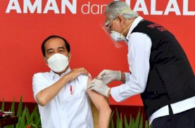 Presiden Terima Suntikan Dosis Pertama Vaksin Covid-19