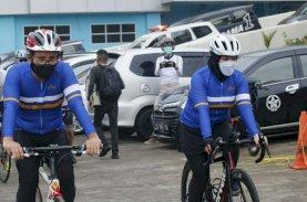 Danny-Fatma Gowes Bareng Komunitas Sepeda ke Bantimurung