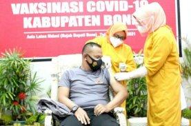 Gara-gara Tensi Darah, Danyon Brimob Bone Nyaris Gagal Divaksin Covid-19