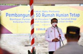 Gubernur Sulsel Berikan 100 Unit Huntap untuk Korban Gempa Sulbar