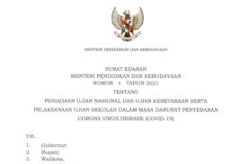 Mendikbud Tiadakan UN dan Ujian Kesetaraan 2021