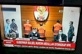 Nurdin Abdullah Dipamerkan Pakai Rompi Oranye KPK