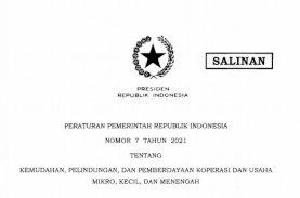 Pemerintah Terbitkan PP 7/2021, Berikan Kemudahan bagi Koperasi dan UMKM