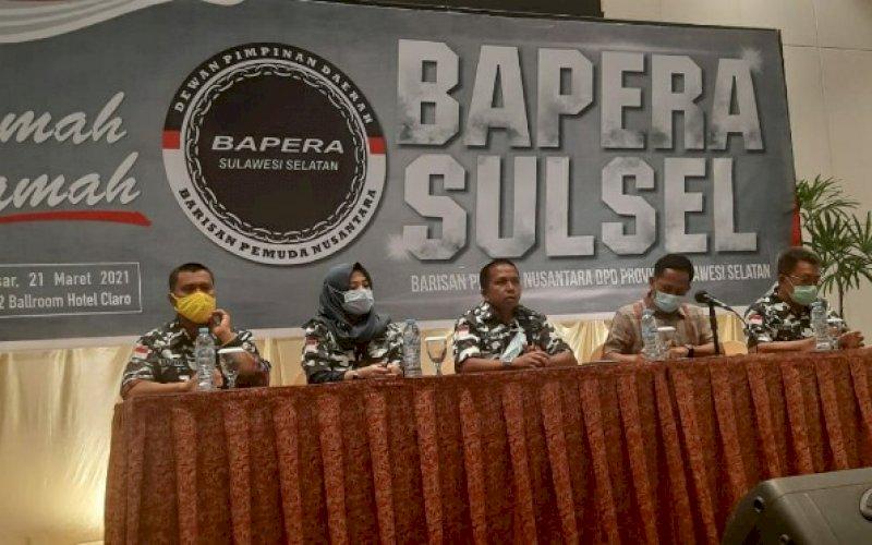 RAMAH TAMAH. Suasana ramah tamah DPD Bapera Provinsi Sulsel menggelar ramah tamah calon pengurus di Hotel Claro Makassar, Minggu, (21/3/2021). foto: humas bapera sulsel