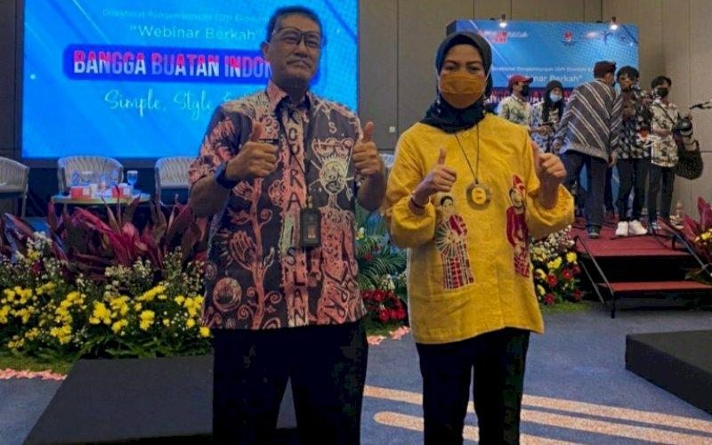 PROMOSI. Plt Kepala Dinas Kebudayaan Kota Makassar Herfida Attas menemui Direktur Pengembangan SDM dan Ekonomi Kreatif Kementerian Pariwisata dan Ekonomi Kreatif Ricky Fauzy melaporkan pelaksanaan Hari Kebudayaan Kota Makassar ke-3 yang akan diperingati 1 April 2021 mendatang. foto: istimewa