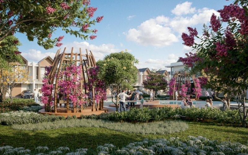 SMART HOME. Ilustrasi kluster yang mengedepankan fitur smart home, Green Crystal Residence, yang akan dibangun Summarecon Mutiara Makassar. foto: humas smm