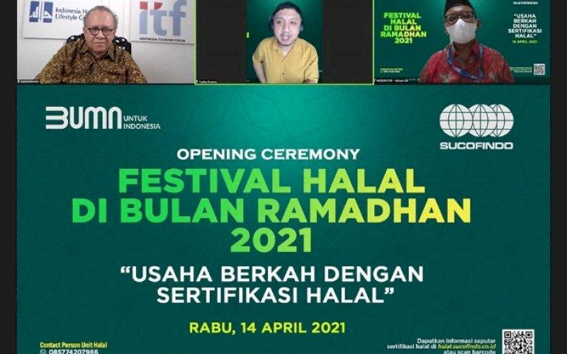 TALKSHOW. PT Sucofindo (Persero) mengadakan talkshow dengan tema 'Usaha Berkah dengan Sertifikasi Halal'. foto: humas Sucofindo