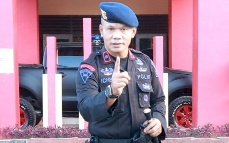 Kompol Nur Ichsan. foto: humas brimob bone