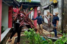Hujan Deras dan Angin Kencang, Lurah Tallo Monitoring Wilayah