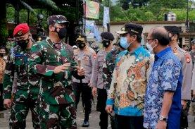 Plt Gubernur Sulsel Dampingi Panglima TNI Tinjau Pengamanan Ibadah Jumat Agung
