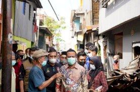 Plt Gubernur Sulsel Sisir Lokasi Kebakaran Padat Penduduk di Tinumbu