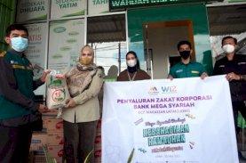 Mega Syariah KCP Makassar Salurkan Zakat Korporasi