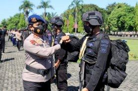 Pasukan Brimob Polda Sulsel Dipulangkan dari Papua