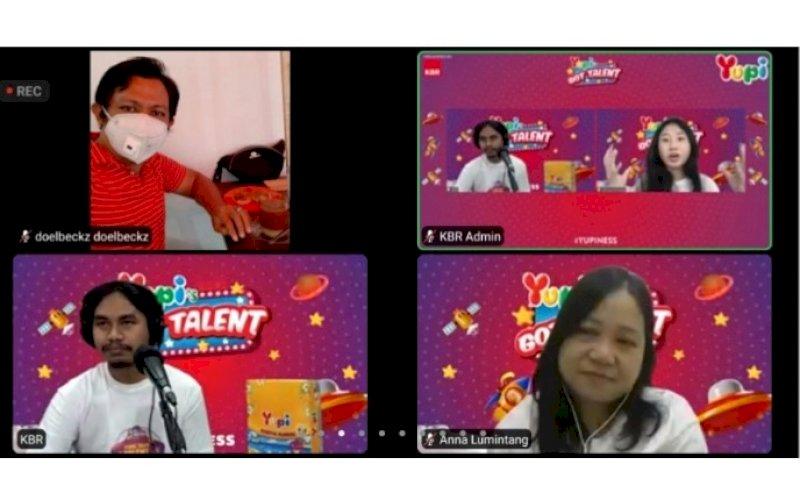 MEDIA GATHERING. Suasana media gathering Yupi's Got Talent 2021 secara virtual Zoom, Kamis (10/6/2021). foto: screenshot