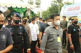 Brimob Bone Kawal Ketat Kunjungan Kerja Menteri Pertanian