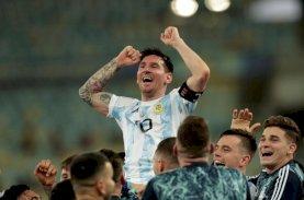 Messi Akhirnya Juara Bersama Argentina