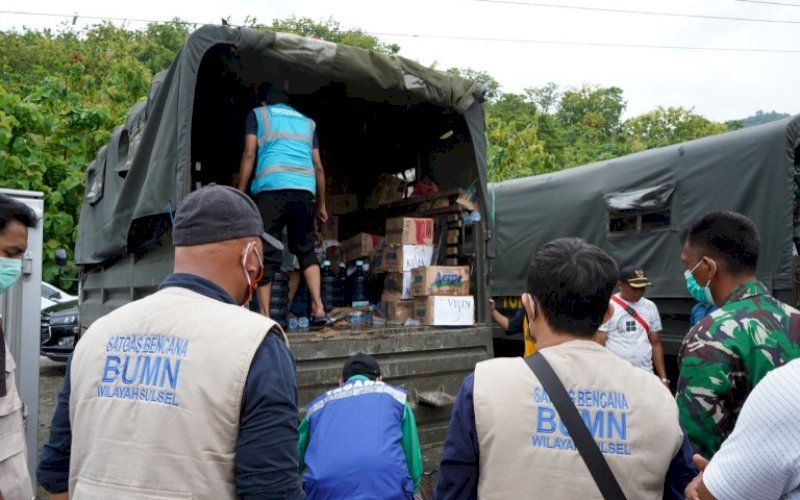 TJSL PELINDO. PT Pelindo IV pada triwulan I-2021 telah menyalurkan bantuan TJSL untuk membantu masyarakat di beberapa wilayah di Kawasan Timur Indonesia khususnya pilar pembangunan lingkungan dan sosial. foto: istimewa