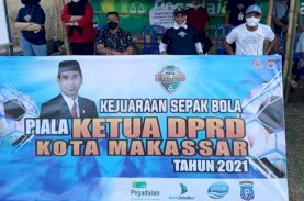 Rudianto Lallo Buka Kejuaraan Sepak Bola Ketua DPRD Makassar