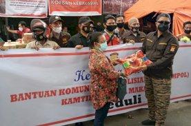 Bankompol Kamtibmas Merpati Makassar Peduli Korban Kebakaran Kampung Lepping