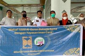 Masika ICMI Sulsel Wakafkan 1.000 Al Qur'an