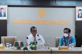 Prof Husain Syam Sampaikan Perkembangan UNM ke Presiden