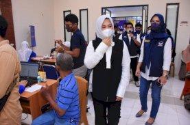 Warga Antusias Mengikuti Vaksinasi Partai Nasdem Makassar