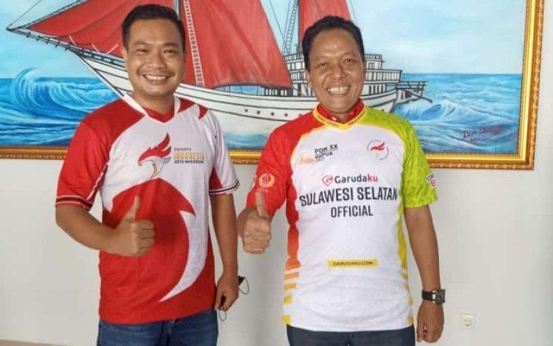 Ketua Umum ESI Sulsel Brigjen TNI Dwi Surjatmodjo (kanan) bersama Jul Sandy. foto: istimewa