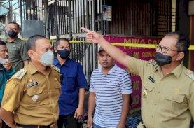 Danny Pomanto Kunjungi Kebakaran Depan GOR Sudiang