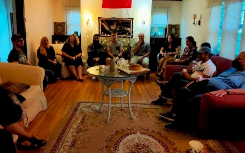 INDONESIAN NIGHT. Suasana 'Indonesian Night' yang digelar Mahasiswa dan pengajar di Hartford Seminary, Connecticut, Amerika, asal Indonesia, Jumat (10/9/2021). foto: istimewa
