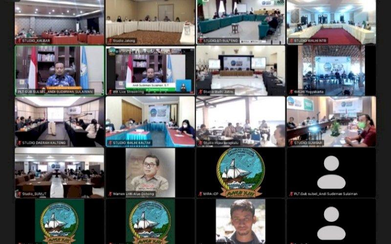 PERTEMUAN VIRTUAL. Pertemuan Nasional Lingkungan Hidup (PNLH) XIII oleh Wahana Lingkungan Hidup Indonesia (WALHI) secara virtual, Minggu (19/9/2021). foto: istimewa