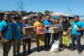 Gelora dan Blue Helmet Bantu Korban Kebakaran di Takalar