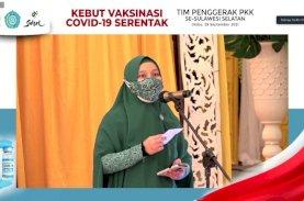 PKK Sulsel Vaksinasi Serentak 300 Ribu Warga Dalam Sehari
