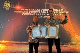 Vale Raih Penghargaan atas Penerapan Praktik Pertambangan yang Baik