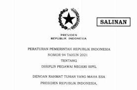 Presiden Terbitkan PP 94/2021 tentang Disiplin PNS