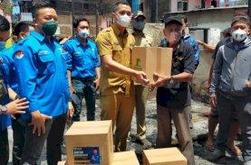 Dispora dan KNPI Makassar Peduli Korban Kebakaran