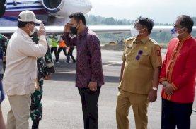 Andi Iwan Aras Sambut Kedatangan Menhan di Tana Toraja
